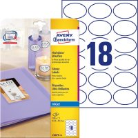 Avery Zweckform C6079-10 nyomtatható fényes felületű öntapadós etikett címke