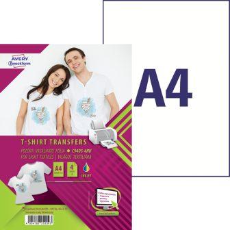 3fc3ac9dd1 Avery Zweckform No. C9405-4HU világos pólóra, textilre vasalható ...
