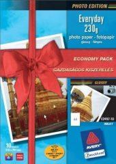 Avery Zweckform No. E2497-10 tintasugaras 210 x 297 mm (A4) méretű, 230 g -os gazdaságos kiszerelésű fényes fotópapír - 10 ív / csomag (Avery E2497-10)