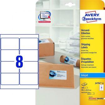 Avery Zweckform J4794-25 nyomtatható öntapadós csomag címke tintasugaras nyomtatóhoz