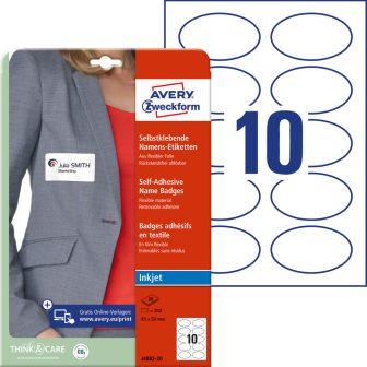 Avery Zweckform J4882-20 textilre ragasztható nyomtatható öntapadós névcímke