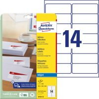 Avery Zweckform J8163-25 nyomtatható öntapadós címzés címke tintasugaras nyomtatóhoz