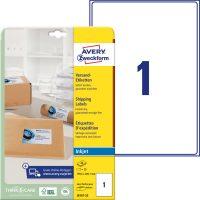 Avery Zweckform J8167-25 nyomtatható öntapadós csomag címke tintasugaras nyomtatóhoz