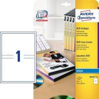 Avery Zweckform No. J8437-25 tintasugaras 273 x 183 mm méretű, DVD tok betét mikroperforált élekkel A4-es íven - 25 DVD tok betét / csomag - 25 ív / csomag (Avery J8437-25)