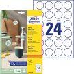 Avery Zweckform L3415-10 kör alakú nyomtatható öntapadós etikett címke