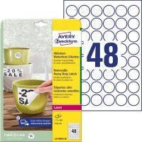 Avery Zweckform L4716REV-20 nyomtatható öntapadós időjárásálló etikett címke
