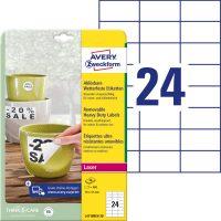 Avery Zweckform L4718REV-20 nyomtatható öntapadós időjárásálló etikett címke