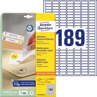 Avery Zweckform L4731REV-25 nyomtatható öntapadós visszaszedhető etikett címke