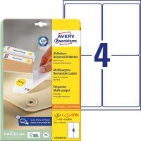 Avery Zweckform No. L4733REV-25 univerzális 99,1 x 139 mm méretű visszaszedhető, fehér öntapadó etikett címke A4-es íven - 120 címke / csomag - 30 ív / csomag (Avery L4733REV-25)