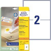 Avery Zweckform No. L4734REV-25 univerzális 199,6 x 143,5 mm méretű visszaszedhető, fehér öntapadó etikett címke A4-es íven - 60 címke / csomag - 30 ív / csomag (Avery L4734REV-25)