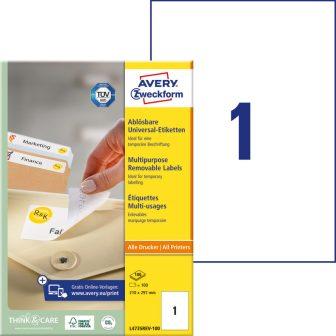 Avery Zweckform L4735REV-100 nyomtatható öntapadós visszaszedhető etikett címke