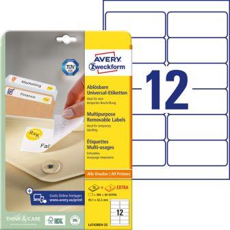 Avery Zweckform L4743REV-25 nyomtatható öntapadós visszaszedhető etikett címke