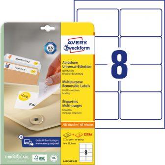 Avery Zweckform L4745REV-25 nyomtatható öntapadós visszaszedhető etikett címke