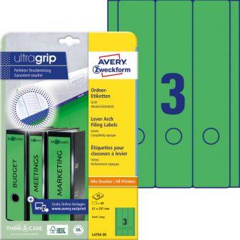 Avery Zweckform L4754-20 nyomtatható öntapadós iratrendező címke