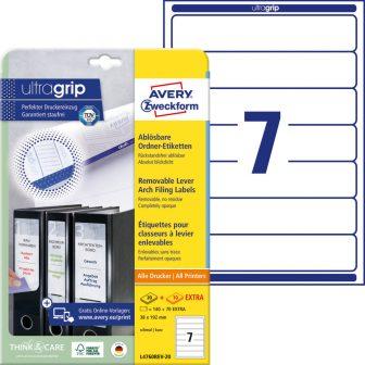 Avery Zweckform L4760REV-20 nyomtatható öntapadós iratrendező címke
