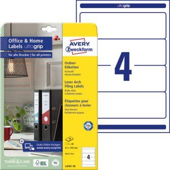 Avery Zweckform L4761-10 nyomtatható öntapadós iratrendező címke