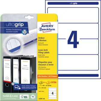 Avery Zweckform L4761-25 nyomtatható öntapadós iratrendező címke