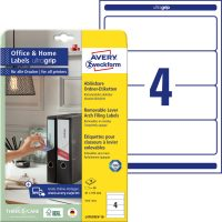 Avery Zweckform L4761REV-10 nyomtatható öntapadós iratrendező címke