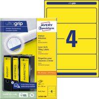 Avery Zweckform No. L4769-100 univerzális 61 x 192 mm méretű, sárga színű öntapadó iratrendező címke A4-es íven - 400 címke / doboz - 100 ív / doboz (Avery L4769-100)