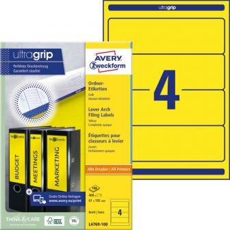 Avery Zweckform L4769-100 nyomtatható öntapadós iratrendező címke