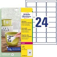 Avery Zweckform L4773REV-20 nyomtatható öntapadós időjárásálló etikett címke