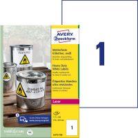 Avery Zweckform L4775-100 nyomtatható öntapadós időjárásálló etikett címke