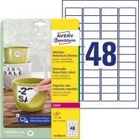 Avery Zweckform L4778REV-20 nyomtatható öntapadós időjárásálló etikett címke