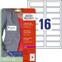 Avery Zweckform L4783-20 textilre ragasztható nyomtatható öntapadós névcímke