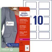 Avery Zweckform L4785-20 textilre ragasztható nyomtatható öntapadós névcímke