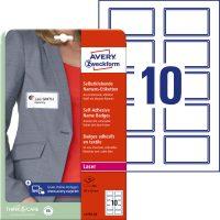 Avery Zweckform L4787-20 textilre ragasztható nyomtatható öntapadós névcímke