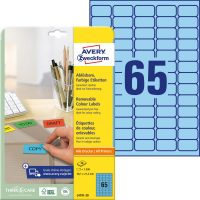 Avery Zweckform L4791-20 nyomtatható öntapadós visszaszedhető színes etikett címke