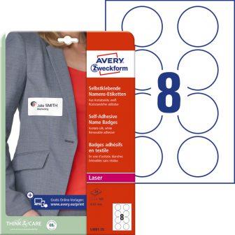 Avery Zweckform L4881-20 textilre ragasztható nyomtatható öntapadós névcímke