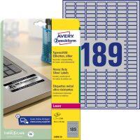 Avery Zweckform L6008-20 nyomtatható öntapadós ezüst ipari etikett címke