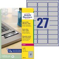 Avery Zweckform L6011-8 nyomtatható öntapadós ezüst ipari etikett címke