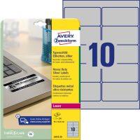 Avery Zweckform L6012-20 nyomtatható öntapadós ezüst ipari etikett címke