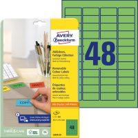 Avery Zweckform L6040-20 nyomtatható öntapadós visszaszedhető színes etikett címke