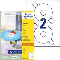 Avery Zweckform No. L6043-100 univerzális 117 mm átmérőjű, fehér öntapadó CD címke A4-es íven - 200 címke / doboz - 100 ív / doboz (Avery L6043-100)