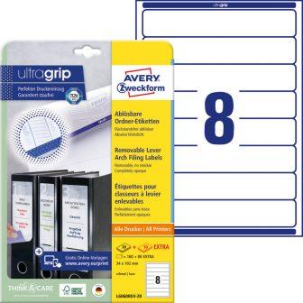 Avery Zweckform L6060REV-20 nyomtatható öntapadós iratrendező címke