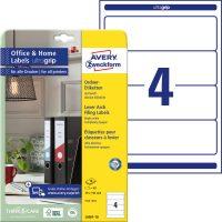Avery Zweckform No. L6061-10 univerzális 59 x 192 mm méretű, fehér öntapadó iratrendező címke A4-es íven - 40 címke / csomag - 10 ív / csomag (Avery L6061-10)