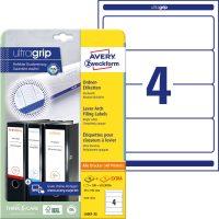 Avery Zweckform No. L6061-25 univerzális 59 x 192 mm méretű, fehér öntapadó iratrendező címke A4-es íven - 100 címke / csomag - 25 ív / csomag (Avery L6061-25)