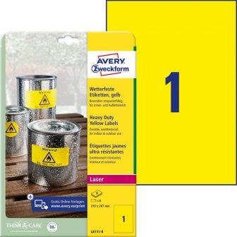 Avery Zweckform L6111-8 nyomtatható öntapadós időjárásálló etikett címke