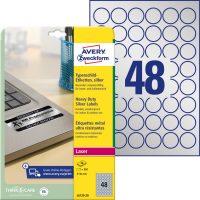 Avery Zweckform L6129-20 nyomtatható öntapadós ezüst ipari etikett címke