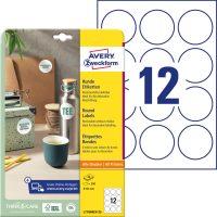 Avery Zweckform No. L7104REV-25 univerzális 60 mm átmérőjű, fehér kör alakú öntapadó termékcímke A4-es íven - 300 címke / csomag - 25 ív / csomag (Avery L7104REV-25)