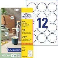 Avery Zweckform L7104REV-25 kör alakú nyomtatható öntapadós etikett címke