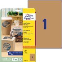 Avery Zweckform L7109-25 nyomtatható környezetbarát öntapadós termék címke