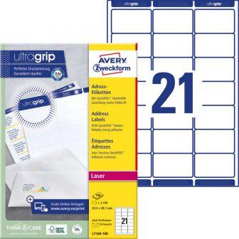 Avery Zweckform L7160-100 nyomtatható öntapadós címzés címke