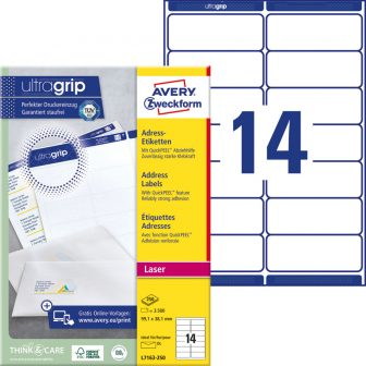 Avery Zweckform L7163-250 nyomtatható öntapadós címzés címke