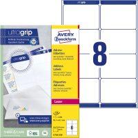 Avery Zweckform No. L7165-250 lézeres 99,1 x 67,7 mm méretű, fehér öntapadó etikett címke A4-es íven - 2000 címke / doboz - 250 ív / doboz (Avery L7165-250)