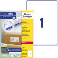 Avery Zweckform No. L7167-100 lézeres 199,6 x 289,1 mm méretű, fehér öntapadó etikett címke A4-es íven - 100 címke / doboz - 100 ív / doboz (Avery L7167-100)