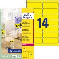 Avery Zweckform L7263Y-25 neon színű nyomtatható öntapadós etikett címke